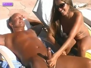 Amateur Handjob  Nudist Outdoor