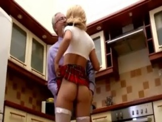 Euro babe gets throatfucked by old man free