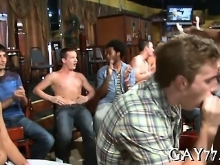 Lustful gay boys at party
