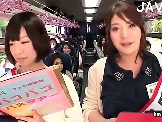 Asian Bus Japanese Public Student Teen