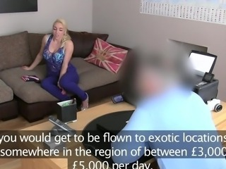 FakeAgentUK big brown eye Brit female has A royal treatment inside sex casting