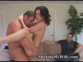 Hungry Wife Feeds On New Cock free