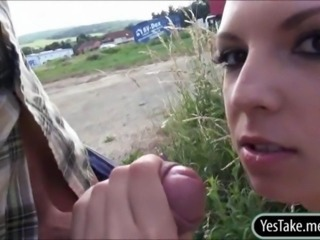 Amateur Cash Handjob Outdoor Pov Public Teen