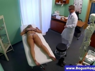 Real patient fucked deep by a horny dr