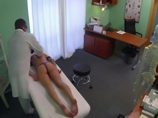 Lonely sexy patient fucks her doctor in his office