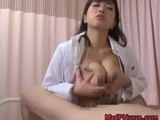 Asian Doctor Japanese  Natural Tits job Uniform