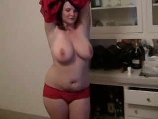 Amateur Big Tits Chubby Dancing  Natural Panty Stripper