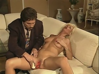 Blonde European German  Orgasm  Toy