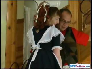 Maid Mature Older Redhead Uniform
