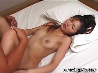 Hot Japanese babe sucking and fucking part1