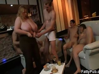 Lad is screwing huge titted blonde BBW