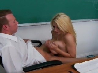 Nasty America hawt Teacher screwed in class room