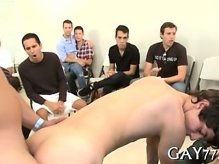 Boys love swallowing rod