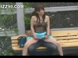 Asian Clothed Outdoor Public Voyeur