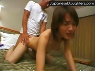 Asian Daughter Doggystyle Japanese Skinny Small Tits Teen