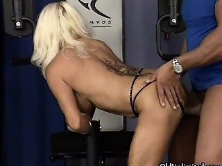 Nasty blonde mature slut goes crazy part3