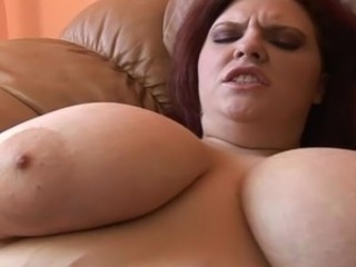 Fat redhead gets her tits and pussy fucked