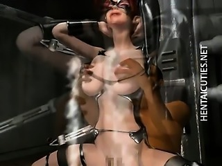 Milky 3D hentai slave riding a big dick