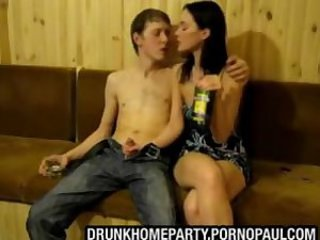 Drunk teen threesome homemade video