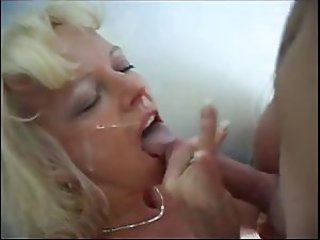 Amateur Cumshot Facial Handjob  Wife