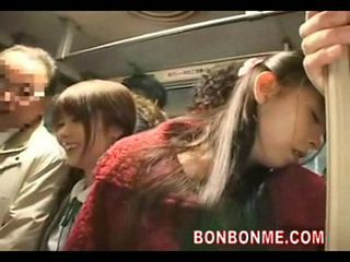 Asian Bus Daughter Mom Old and Young Public