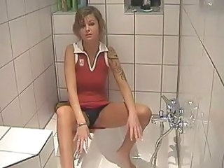Amateur Bathroom European German Girlfriend Homemade Tattoo