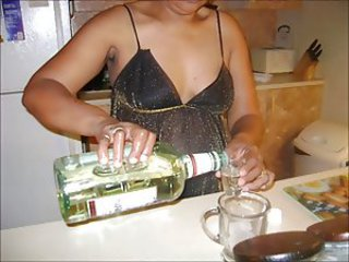 Amateur Drunk Ebony Kitchen Mature