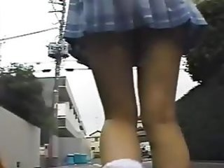 Asian Japanese Outdoor Public Skirt Student Teen