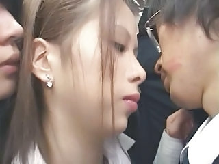 Asian Babe Bus Japanese Public