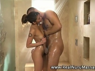 Amazing Asian Handjob Interracial Massage  Showers