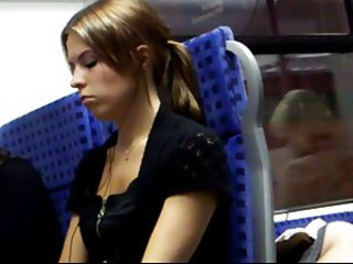 Sweet german girl filmed in train by spycam 4