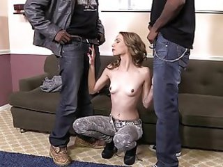 Interracial Small Tits Teen Threesome