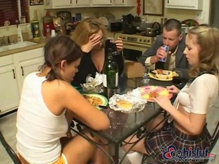 Daughter Drunk Family Kitchen Teen