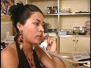 Babe Latina Office Secretary