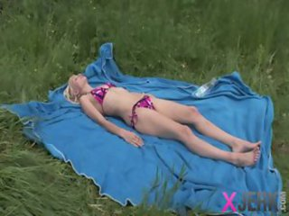 Bikini Outdoor Sleeping Teen