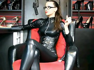 Amazing Femdom Fetish Glasses Latex  Webcam