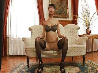 Amazing Asian Lingerie  Pornstar Stockings