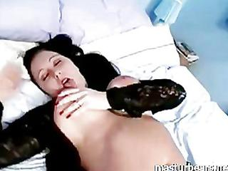 Amateur Bedroom Chubby Masturbating Natural Solo