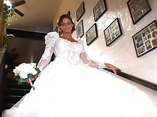 Blonde Bride Cute Threesome Uniform