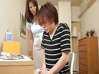 Asian Handjob Mom