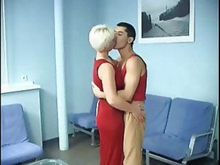 Milf Blonde fucked anally by their way Young suitor