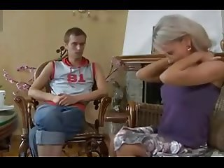 Russian hot mom and not her son