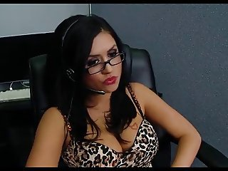 Big Tits Glasses  Office Secretary