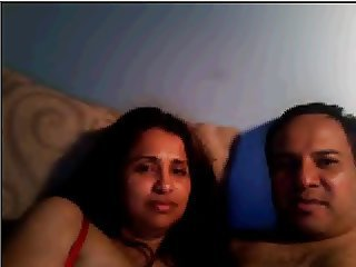 Desi husband wife overhead webcam