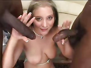 Handjob Interracial Teen Threesome