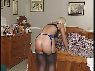 Ass Blonde British European Lingerie  Solo Stockings