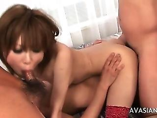 Dirty Asian In Ass To Mouth Threesome