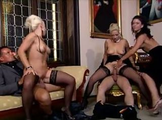 orgy with 3 hot women(party gone wild)