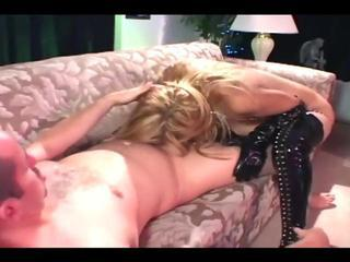 Sex in shiny black thigh high boots and gloves Sex Tubes