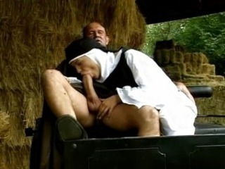 Big cock Blowjob Clothed Farm Nun Outdoor Uniform Vintage